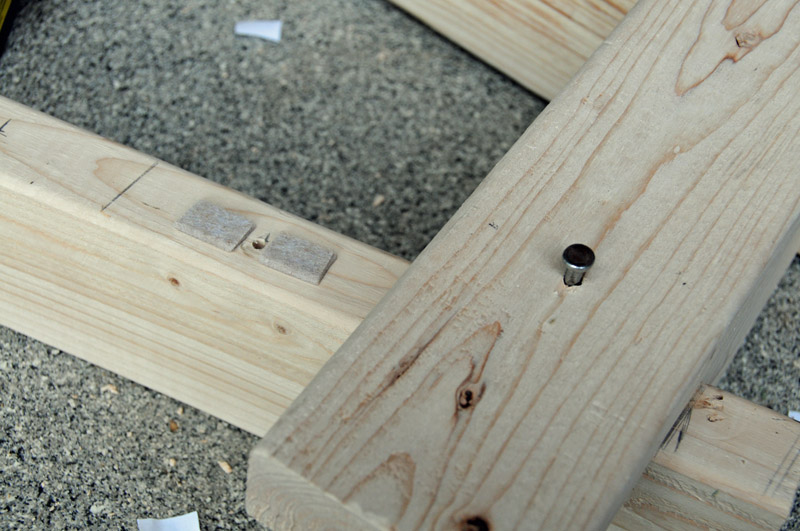 Adding the felt before nailing in the key